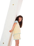 Girl and mattress Stock Photos