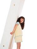 Girl and mattress Stock Photos