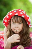 Girl in a meadow Stock Image