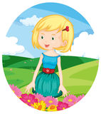 Girl in the meadow Stock Photography