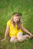 Girl in meadow Royalty Free Stock Image