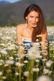 Girl on the meadow Royalty Free Stock Photo