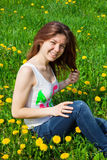 Girl in meadow Stock Image