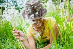 Girl in a meadow Royalty Free Stock Photo