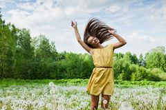 Girl in a meadow Royalty Free Stock Image