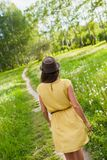 Girl in a meadow Stock Photo