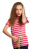 Girl with measure Royalty Free Stock Photo