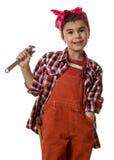 Girl mechanic Stock Photo