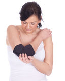 Girl in medical bandage, elbow support Stock Image