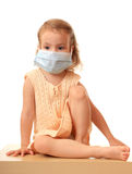 Girl is in medical mask. Royalty Free Stock Photo