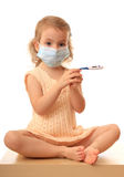 Girl is in medical mask. Stock Photo