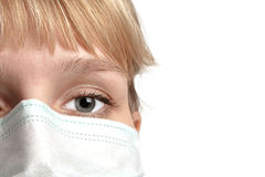 The girl in medical mask Stock Photos