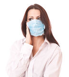 Girl in medical mask Royalty Free Stock Photo