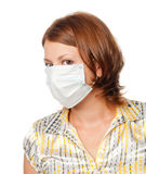 Girl in a medical mask Stock Photography