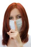 The girl in a medical mask Royalty Free Stock Photos