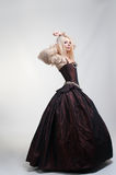 Girl in medieval beautiful dress Royalty Free Stock Photos