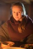 Girl in medieval clothes Stock Photos
