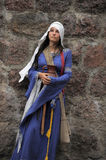 Girl in medieval dresses Royalty Free Stock Photos
