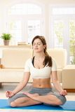 Girl meditating Stock Photography