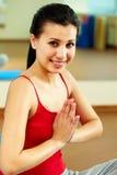Girl meditating Stock Photo