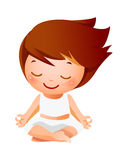Girl meditating Royalty Free Stock Photo