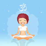 Girl in meditation Royalty Free Stock Images