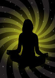 Girl in meditation illustration Stock Photography