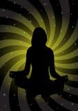 Girl in meditation illustration stock photography
