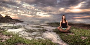 Girl meditation Royalty Free Stock Images