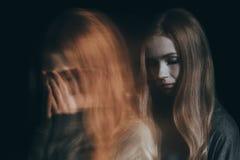 Girl with a mental disorder. Going through a tough time Stock Photography