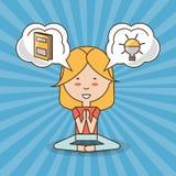 Mental health design. Girl of mental heath mind and peaceful theme Vector illustration stock illustration