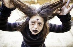 Girl mentally insane Royalty Free Stock Photos