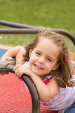 Girl on the Merry Go Round Stock Photography