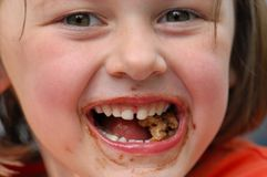 Girl with Messy Face Royalty Free Stock Photo