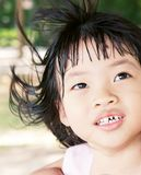 Girl with messy hair Royalty Free Stock Image