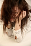 Girl with messy hair Royalty Free Stock Images