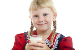 Girl with milk Stock Photos