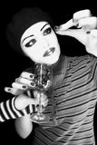 Girl - mime Royalty Free Stock Photo