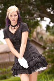 Girl in mini dress Royalty Free Stock Image