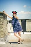 Girl with minnie mouse ears Royalty Free Stock Images