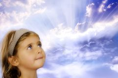 Girl and miracle Royalty Free Stock Photos