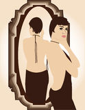 Girl in the mirror Royalty Free Stock Photo
