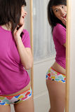 Girl in the mirror Royalty Free Stock Photography