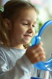 Girl with a mirror Royalty Free Stock Photography
