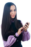 Girl with mobile phone Stock Photos