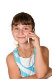 The girl with mobile phone Royalty Free Stock Photo