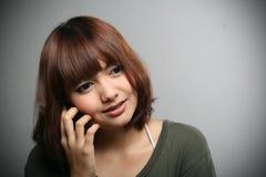 Girl & Mobile phone Stock Photos
