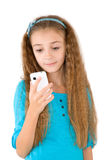 The girl with mobile phone Royalty Free Stock Photos