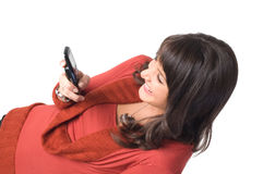 Girl with mobile phone Royalty Free Stock Image