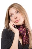 The girl with a mobile phone Stock Photography